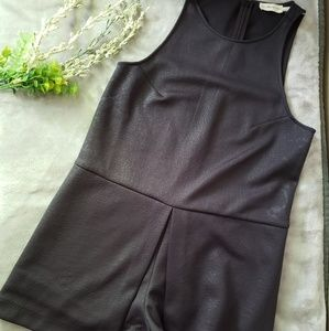The Addison Story black embossed romper. Size S